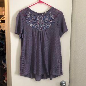 Purple Short-sleeve Top